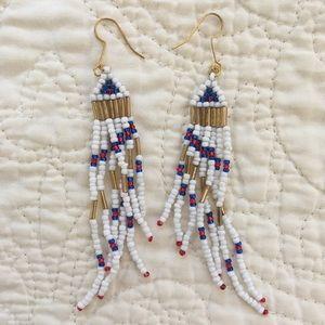 Jewelry - Handmade Americana Beaded Earrings
